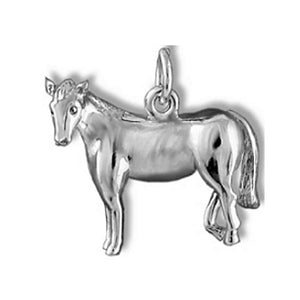 Horse Charm Sterling Silver Equestrian Pendant