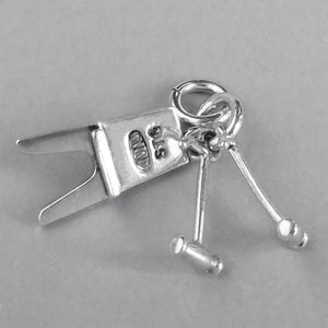 Boot Jack and Pulls Charm Sterling Silver or Gold