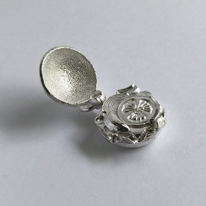 Opening Hamburger Charm Sterling Silver or Gold Pendant