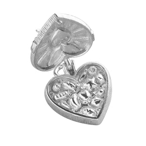 Box of Chocolates Charm Sterling Silver or Gold Pendant Open