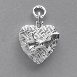 Box of Chocolates Charm Sterling Silver or Gold Pendant Front