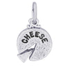 Cheese wheel charm sterling silver pendant