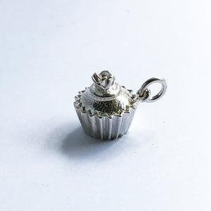High Quality Cupcake Charm Sterling Silver or Gold