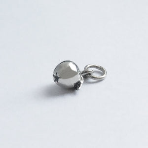 Miniature sterling silver apple charm