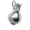 Onion Charm Sterling Silver Vegetable Pendant
