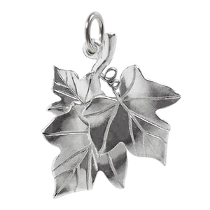 Ivy Leaves Charm Sterling Silver