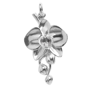 Phalaenopsis moth orchid flower charm sterling silver or gold