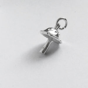 Spotted Mushroom Charm Sterling Silver or Gold