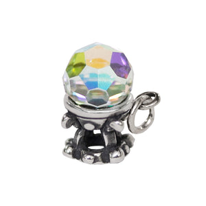 Crystal Ball Charm Sterling silver fortune teller pendant
