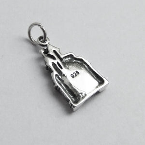 Castle Charm Sterling Silver Fantasy Pendant