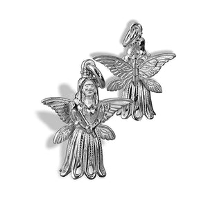 Fairy Charm Moving Wings Sterling Silver or Gold