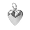 Heart Sterling Silver Solid Polished Pendant