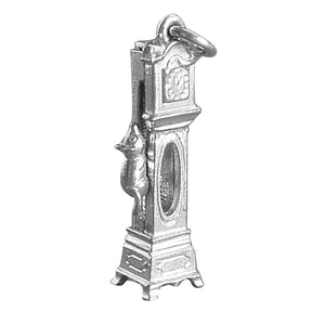 Grandfather Clock Charm with Moving Mouse