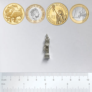 Silver Star Charms Size Guide