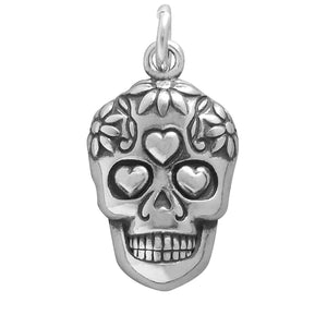 Mexican Day of the Dead Sugar Skull Charm | Charmarama