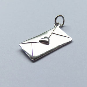 Love Letter Charm Sterling Silver Pendant