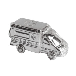 Ambulance Charm Sterling Silver or Gold Medical Pendant
