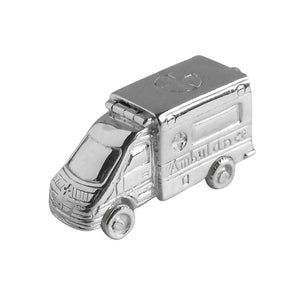 Ambulance Charm Sterling Silver or Gold Medical Pendant side