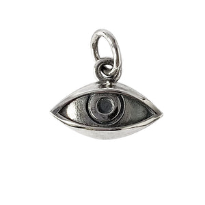 Sterling silver eye charm from Charmarama Charms