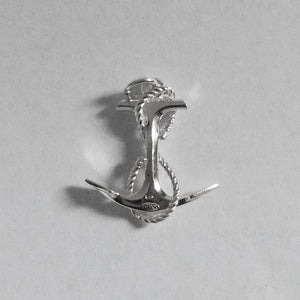 Anchor and rope charm sterling silver nautical pendant