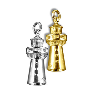 Lighthouse Charm Sterling Silver or Gold