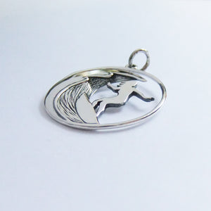 Surf Wave Charm Sterling Silver