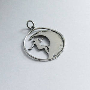 Surfer on a Wave Pendant Sterling Silver