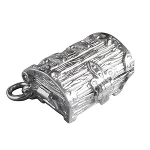 Treasure Chest Charm Sterling Silver Pendant Closed