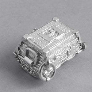 Treasure Chest Charm Sterling Silver Pendant Underneath