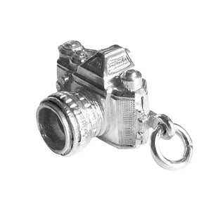 Camera Opens to Cheese Charm Pendant in Sterling Silver or Gold