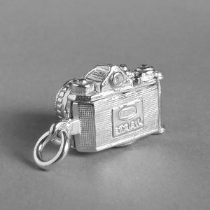 Camera Opens to Cheese Charm Pendant in Sterling Silver or Gold back
