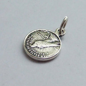 Tiny Coin Charm in Sterling Silver