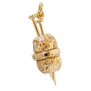 Gold Knitting Charm