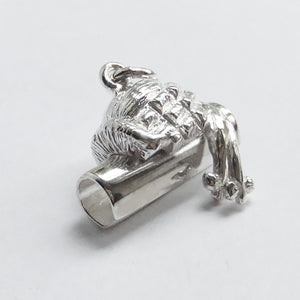 Barrister Wig and Lawyer Brief Sterling Silver Charm Side
