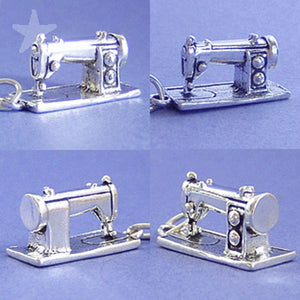sewing machine in sterling silver
