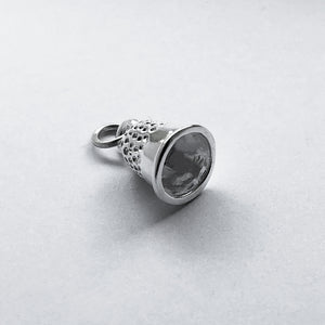 Thimble Charm Sterling Silver Sewing Side
