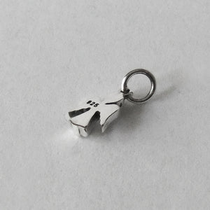 Tiny sterling silver angel charm