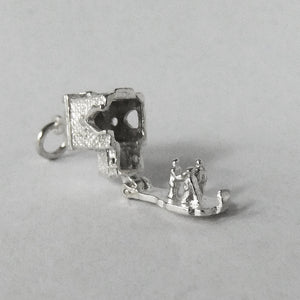 Church Marriage Charm Sterling Silver Pendant