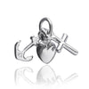 Faith hope and charity charm sterling silver