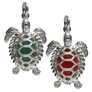 Gemstone Turtle Charm