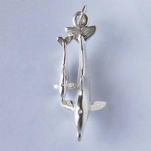 Two Dolphins Charm Sterling Silver