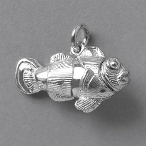 Mechanical Clownfish Charm Sterling Silver Pendant
