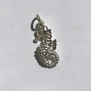 Sea Horse Charm Sterling Silver Ocean Pendant