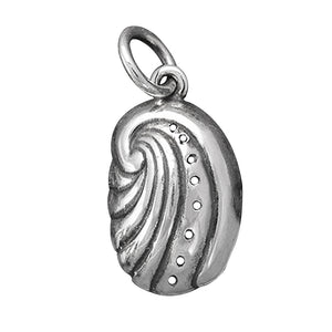 Sterling silver abalone shell charm