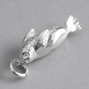 Weddell Seal Charm Sterling Silver Marine Mammal Pendant