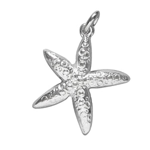 Sterling Silver Starfish Charm Beach Seaside Pendant