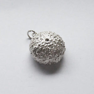 Sea Urchin Shell Charm Sterling Silver Seashell