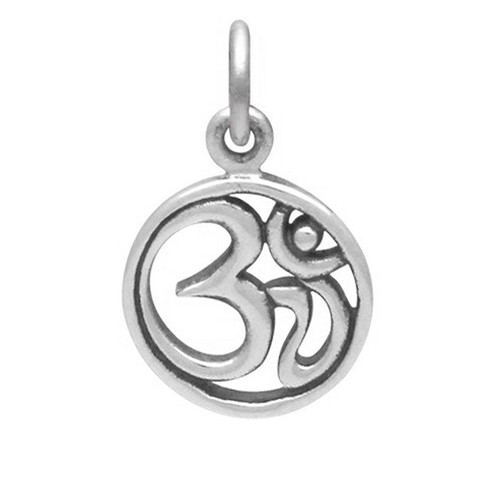 Ohm Mantra Symbol Charm Sterling Silver Silver Star Charms