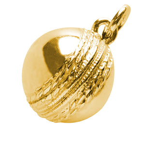 Gold Cricket Ball Charm