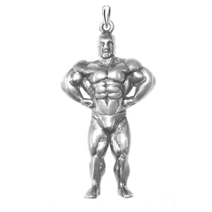 Body builder pendant sterling silver or gold